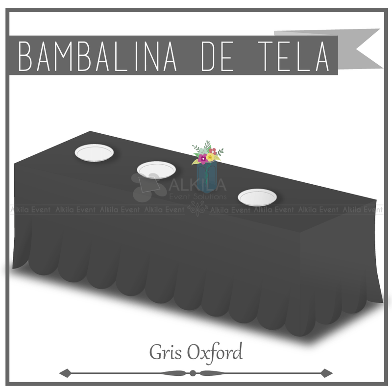 Bambalina de Tela color Gris Oxford (Renta)