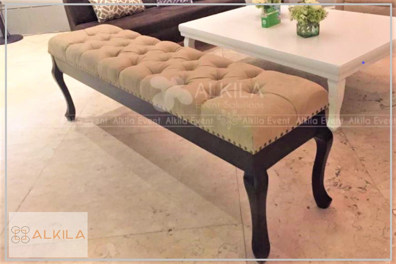 Banca Imperial Beige con Base Chocolate.