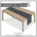 Camino de Tela para Mesa Rectangular color Gris Oxford (Renta) AlkilaEvent