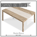 Camino de Manta para Mesa Rectangular color Blanco (Renta) AlkilaEvent