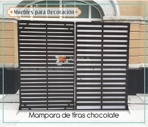 Mampara de Tiras Chocolate AlkilaEvent
