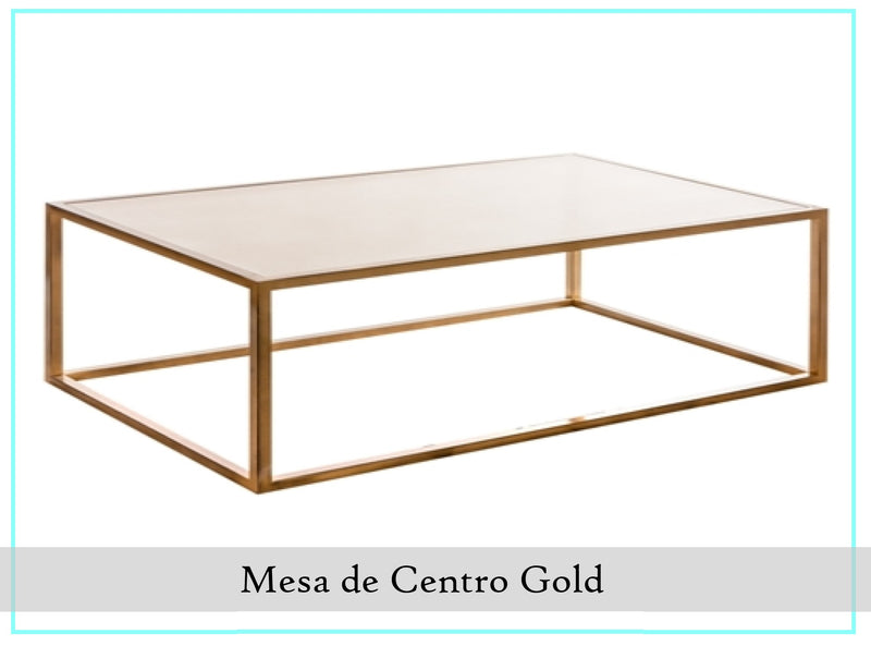 Mesa De Centro Rectangular Gold