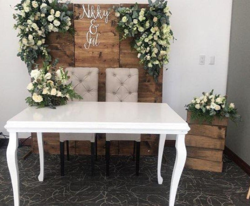 Mesa de Novios color Blanco