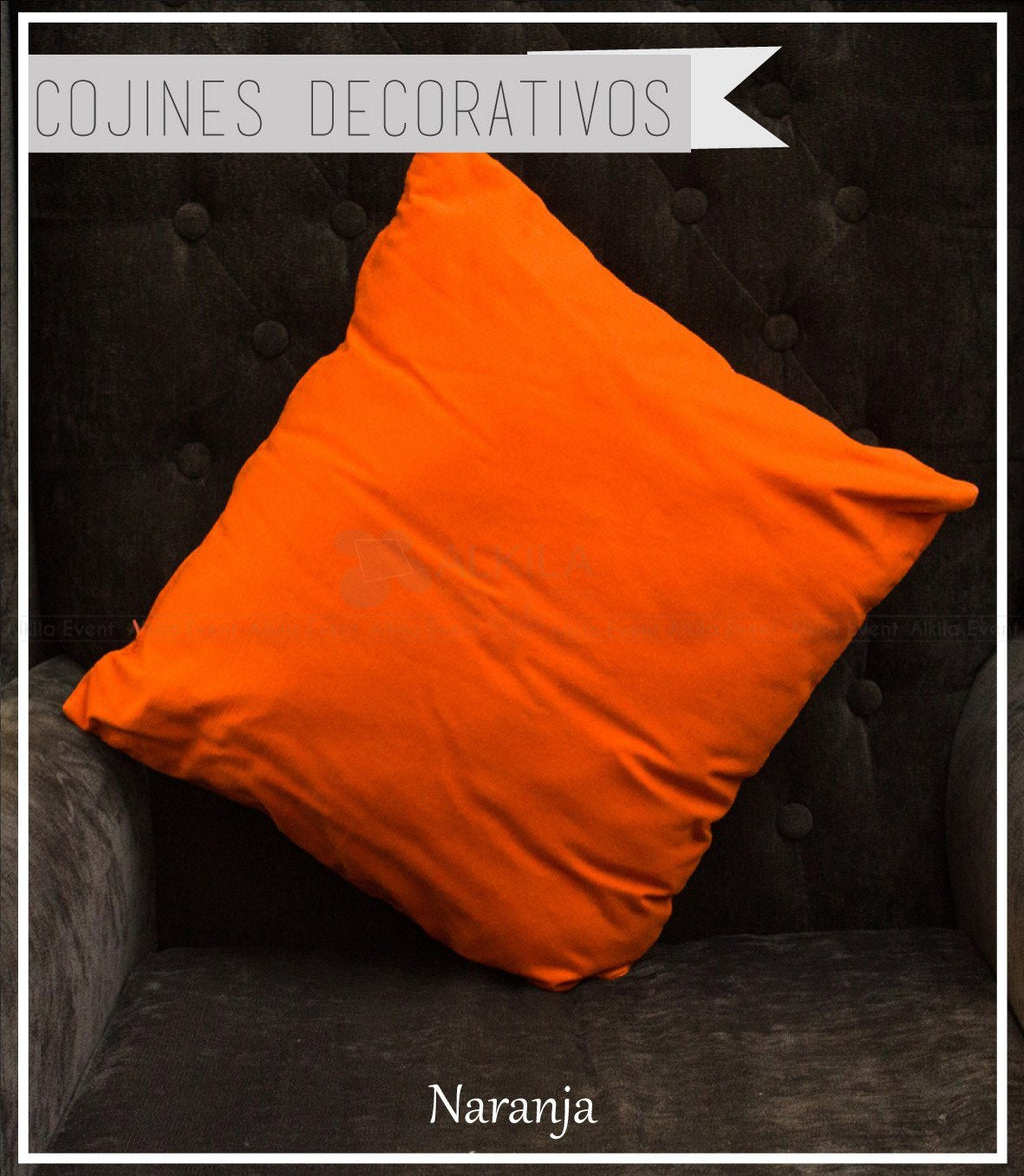 Cojín Decorativo color Naranja (42cm x 42cm)