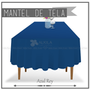 Mantel de Tela para Tablon color Azul Rey (Renta) AlkilaEvent
