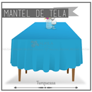 Mantel de Tela para Tablon color Turquesa (Renta) AlkilaEvent