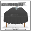 Mantel de Tela para Tablon color Gris Oxford (Renta) AlkilaEvent