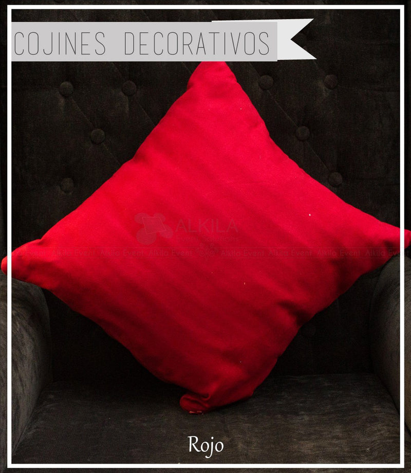 Cojín Decorativo color Rojo (42cm x 42cm) Hogar Alkila Shop