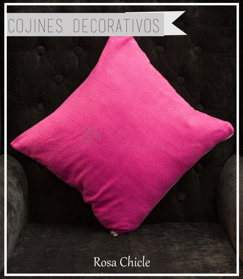 Cojín Decorativo Color Rosa Chicle (42cm x 42cm)