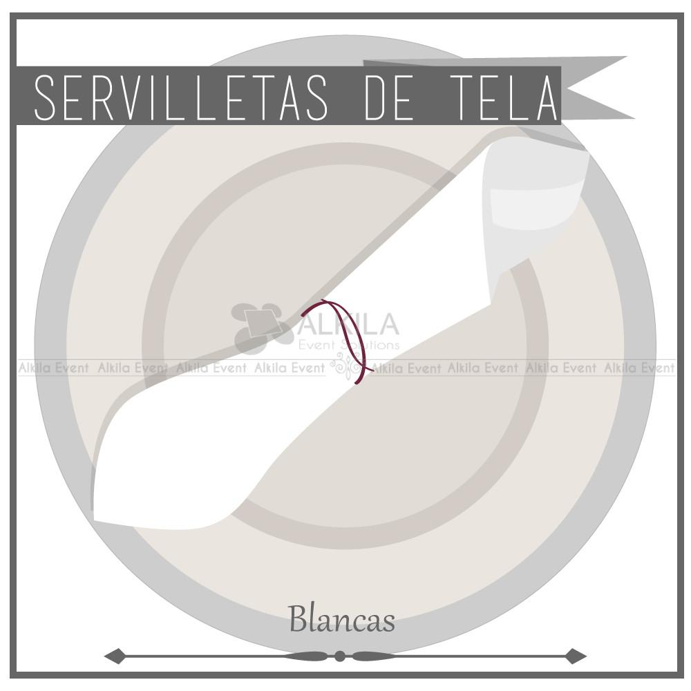 Servilletas de Tela color Blanco (Renta) AlkilaEvent