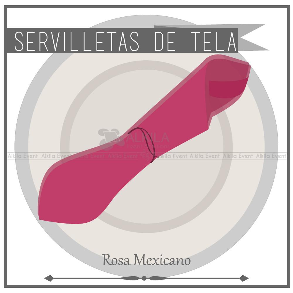 Servilletas de Tela color Rosa Mexicano (Renta)