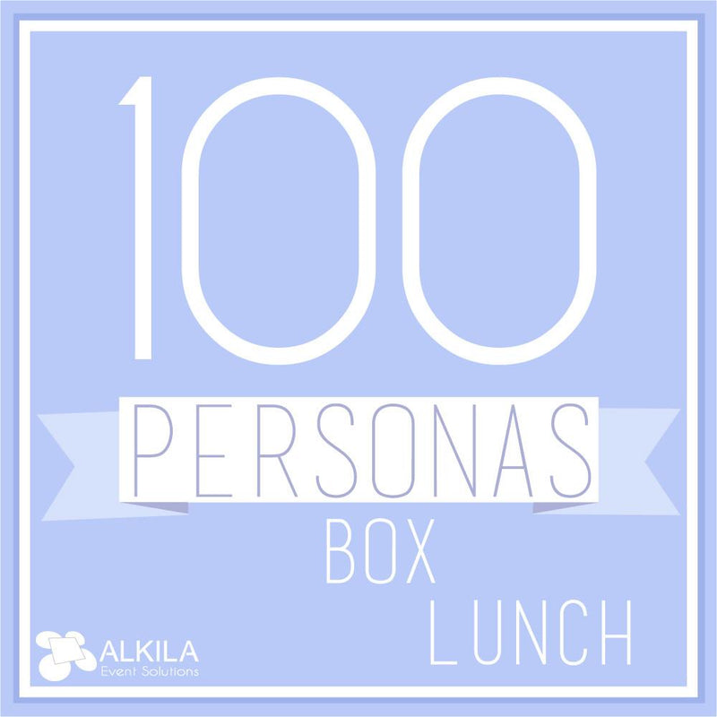 Comida Box Lunch Gourmet (100 personas) AlkilaEvent