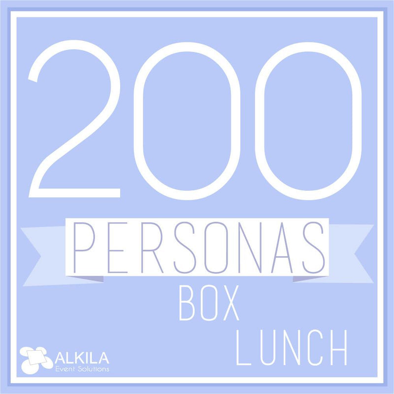 Comida Box Lunch Gourmet (200 personas) AlkilaEvent