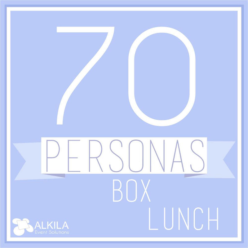 Comida Box Lunch Gourmet (70 personas) AlkilaEvent