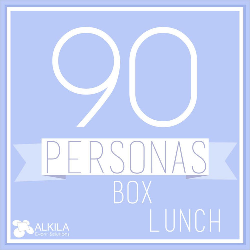 Comida Box Lunch Gourmet (90 personas) AlkilaEvent