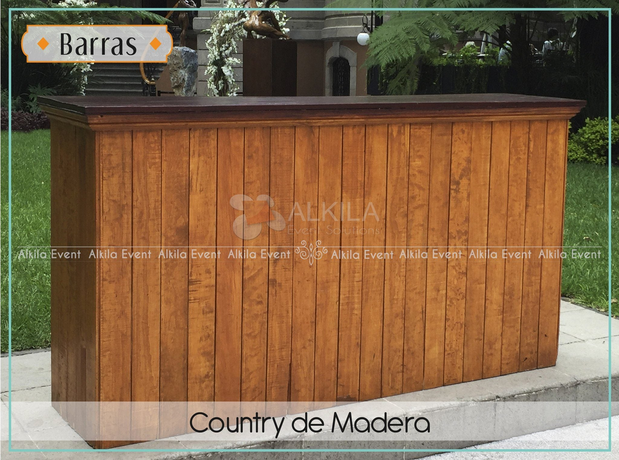 Barra country de madera for Barra bar madera