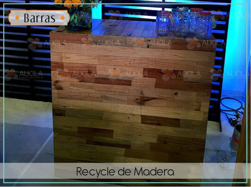 Barra recycle de Madera Barras AlkilaEvent