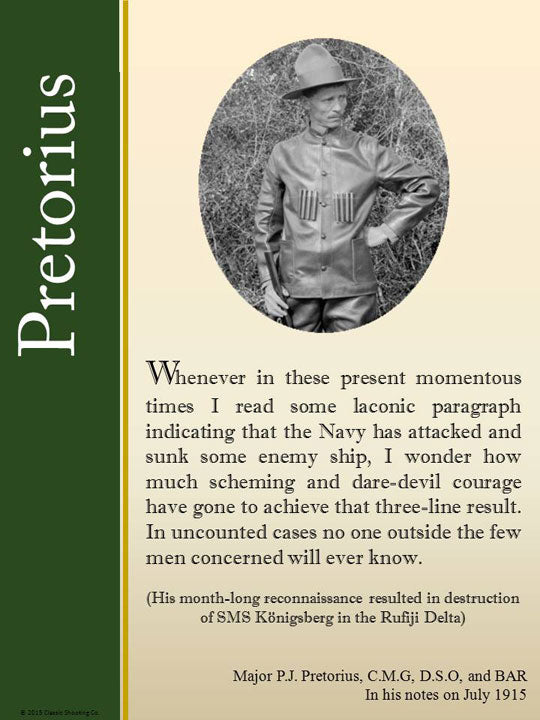Pretorius quote - I read some laconic paragraph indicating the Navy had sunk some enemy ship