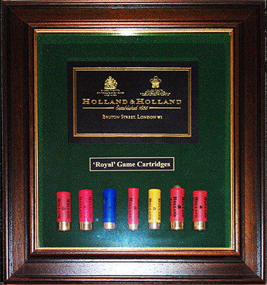 Holland & Holland Cartridge Display Board
