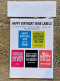 happy birthday wine labels