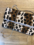 cheetah bead clutch