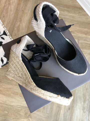 Platform Wedge ankle tie