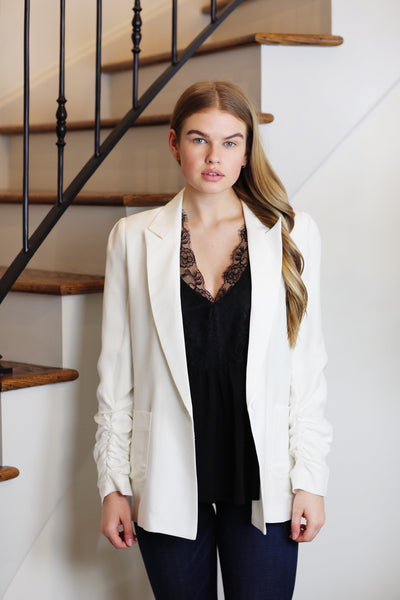 at the top oversize blazer