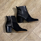 crew booties black multi