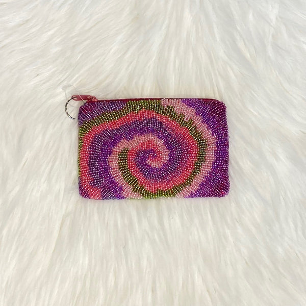 rainbow swirl coin purse