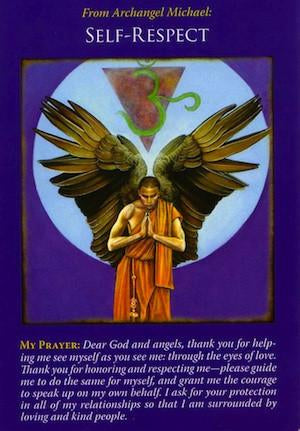 Archangel Michael is supporting your quest for happiness, health, and abundance by advising you to respect and love yourself.