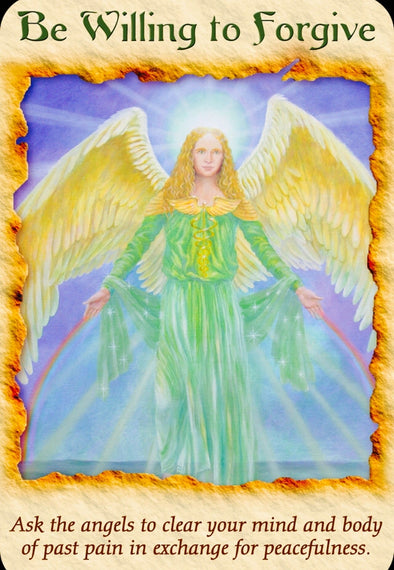 "Archangel Raphael: Be Willing To Forgive: ""Ask the angels to clear your mind and body of past pain in exchange for peacefulness."""