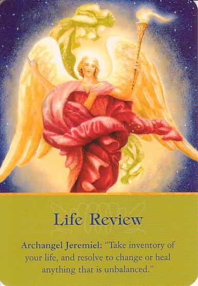 "Archangel Jeremiel: ""Take inventory of your life, and resolve to change or heal anything that is unbalanced."""