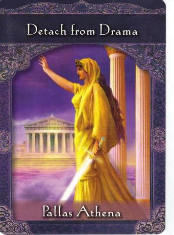 Detach From Drama - You've been drawn into the upsetting world of human egos by focusing upon a drama.