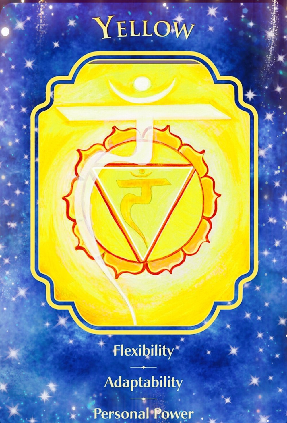 Yellow Flexibility Adaptability Personal Power Angelic
