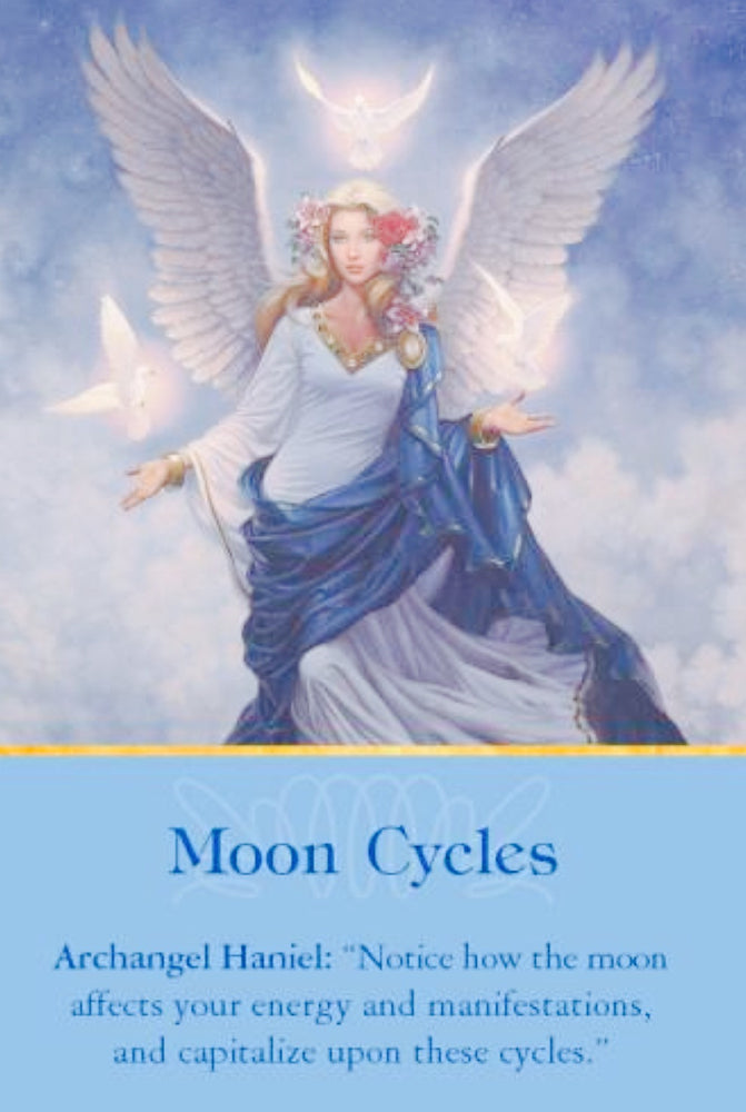 "Archangel Haniel: ""Notice how the moon affects your energy and manifestations, and capitalize upon these cycles."""