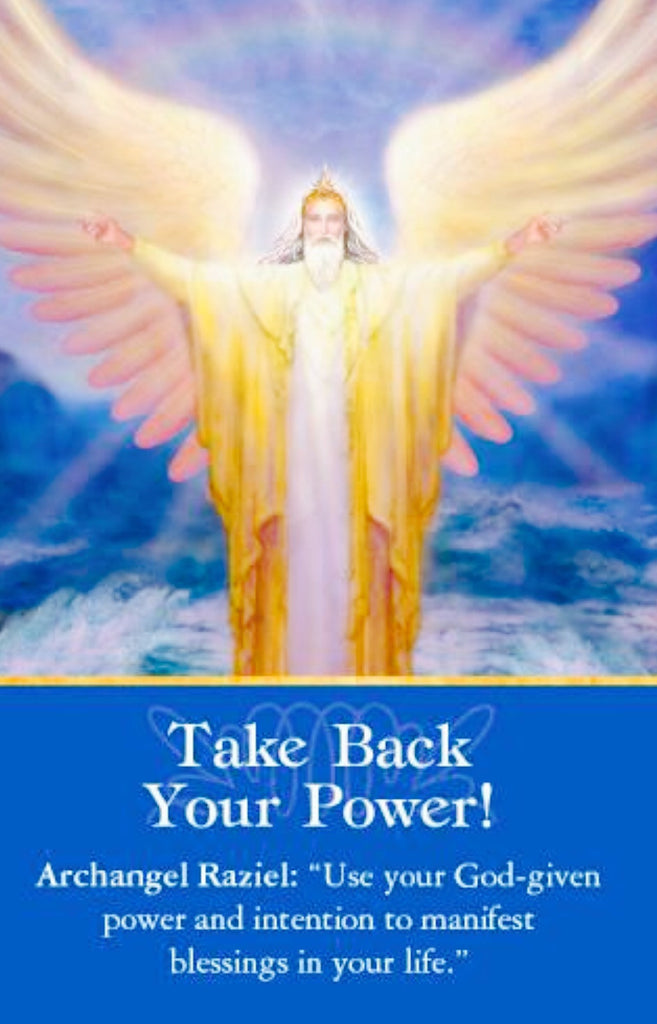 "Archangel Raziel: ""Use your God-given power and intention to manifest blessings in your life."""