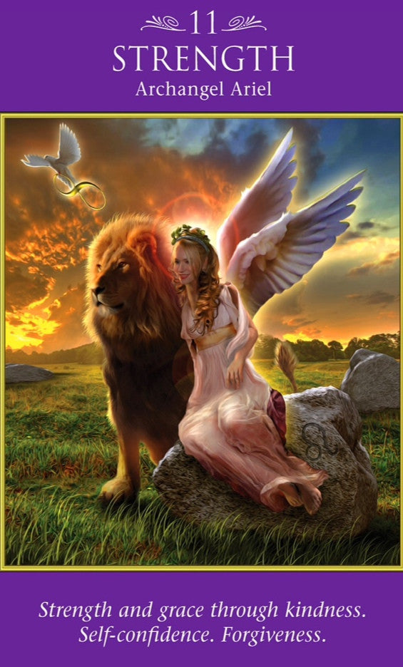 "Archangel Ariel: ""Strength and grace through kindness. Self confidence. Forgiveness""."