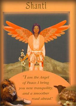 I am the Angel of Peace. I bring you new tranquility, and a smoother road ahead.