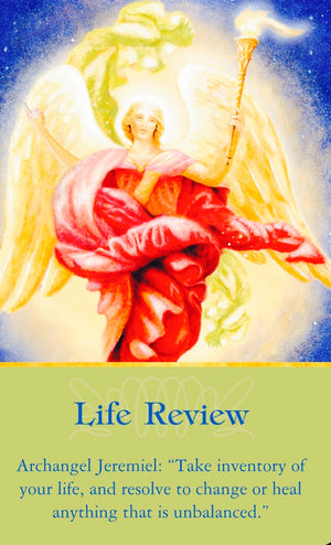 "Archangel Jeremiel: ""Take inventory of your life, and resolve to change or heal anything that's unbalanced."""