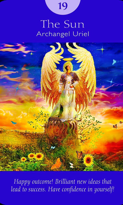 "Archangel Uriel ~ The Sun: ""Happy outcome! Brilliant new ideas that lead to success. Have confidence in yourself!"""