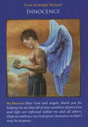 Archangel Michael is holding you in a comforting embrace, assuring you of your innocence.