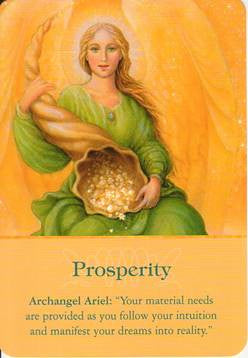 Archangel Ariel: Your Material needs are provided as you follow your intuition and manifest your dreams into reality.