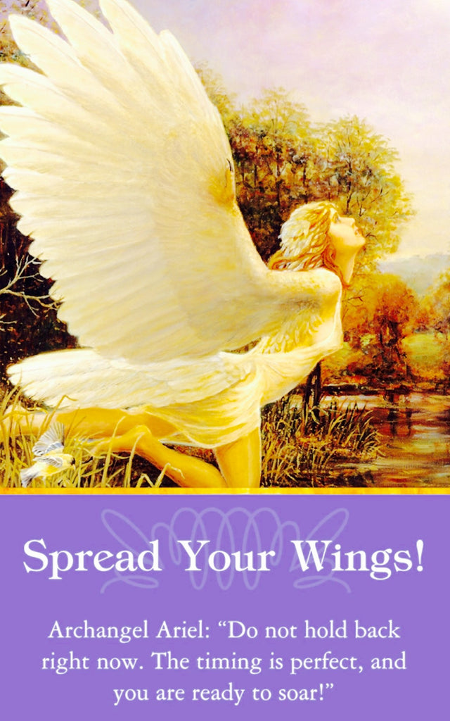 "Spread Your Wings! - Archangel Ariel: ""Don't hold back right now. The timing is perfect, and you're ready to soar!"""