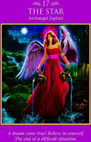 "Archangel Jophiel ~ The Star ""A dream come true! Believe in yourself. The end of a difficult situation."""
