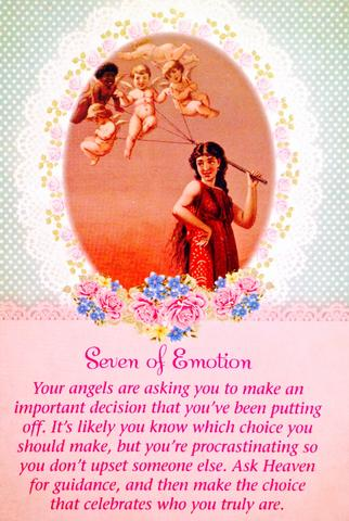 "Seven Of Emotion: ""Your angels are asking you to make an important decision that you have been putting off."