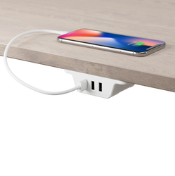 Under Desk Charging Station (White)