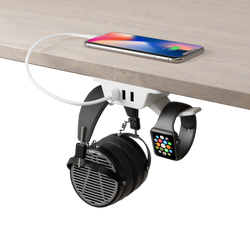 Under Desk Headphone Hanger (White)