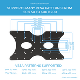 VESA Mount Adapter Plate for TV Mounts, 9 VESA Patterns