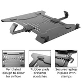 Laptop VESA Mount Tray for Monitor Arms and Stands