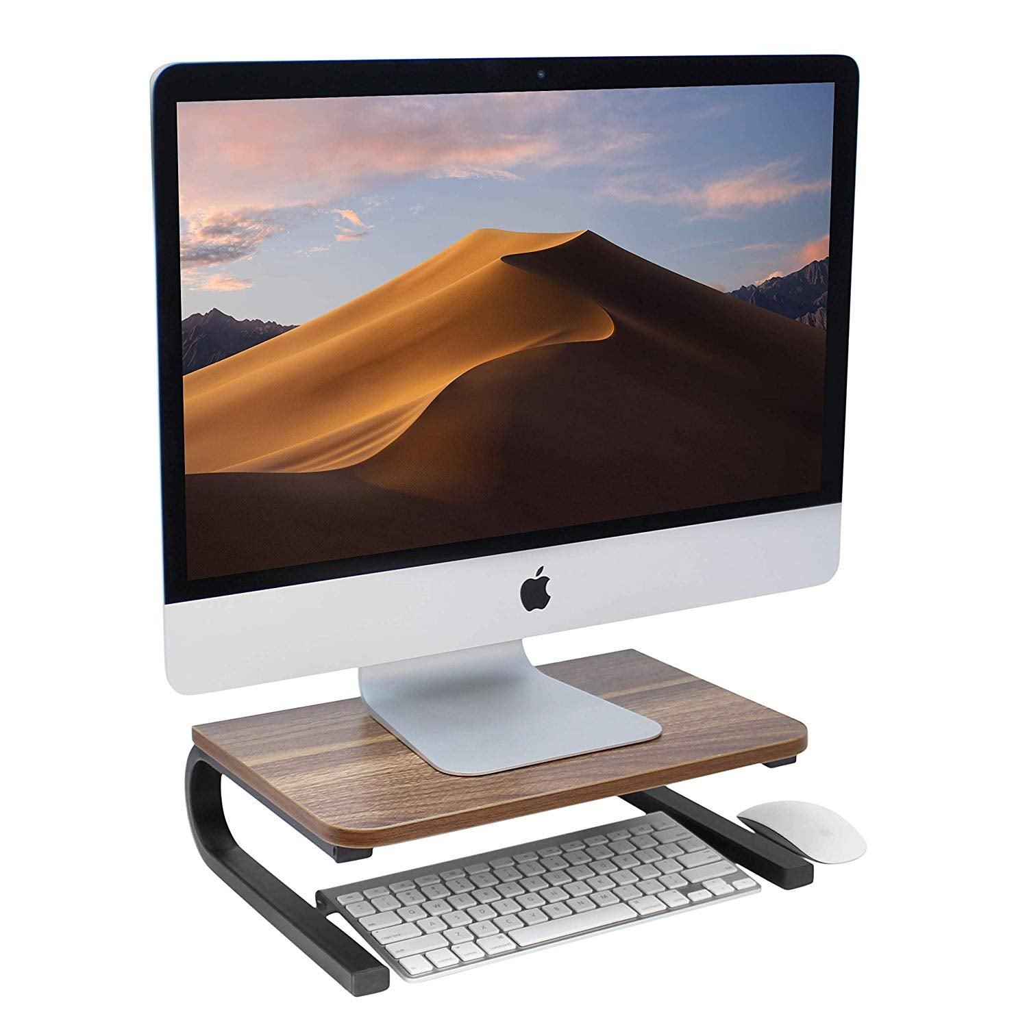 Wood Monitor Stand and Computer Riser (Teakwood)